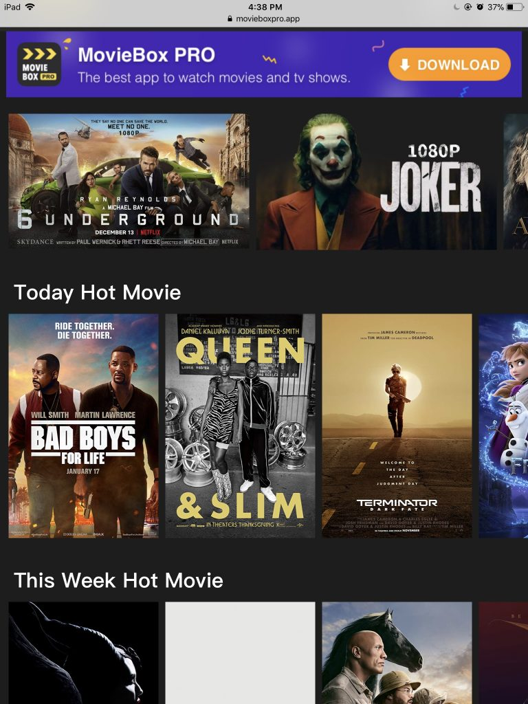Moviebox Pro iOS
