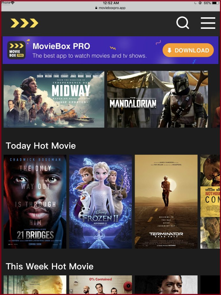 moviebox pro for iPhone